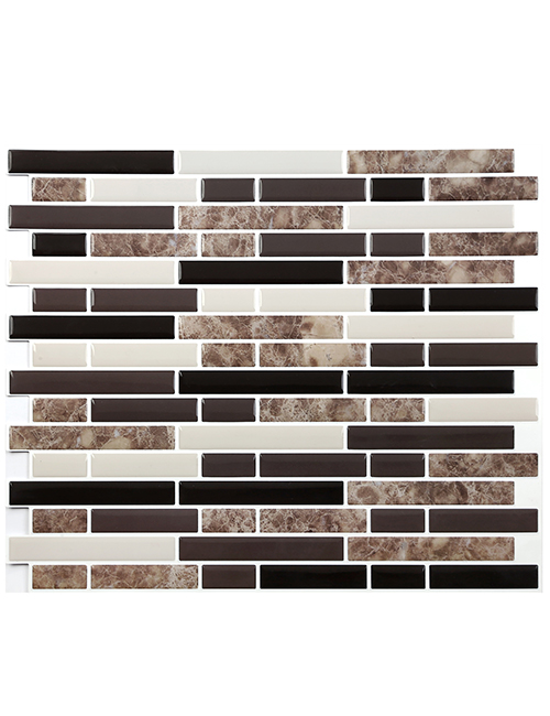 Clever Mosaics peel and stick subway tile backsplash CM80112