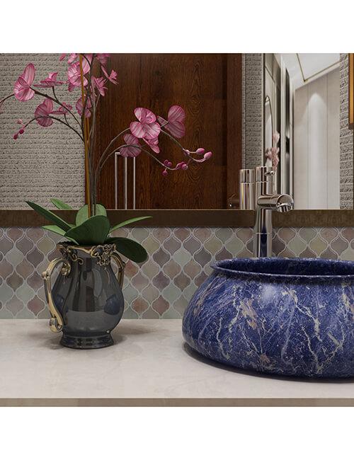 bathroom mosaics peel and stick
