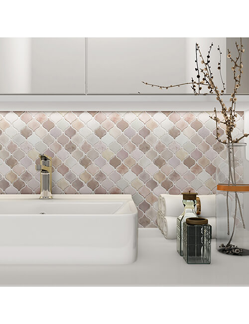 bathroom peel and stick backsplash mosaics