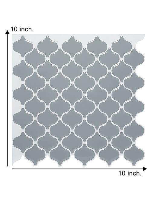 10 x 10inch peel and stick gray lantern tile