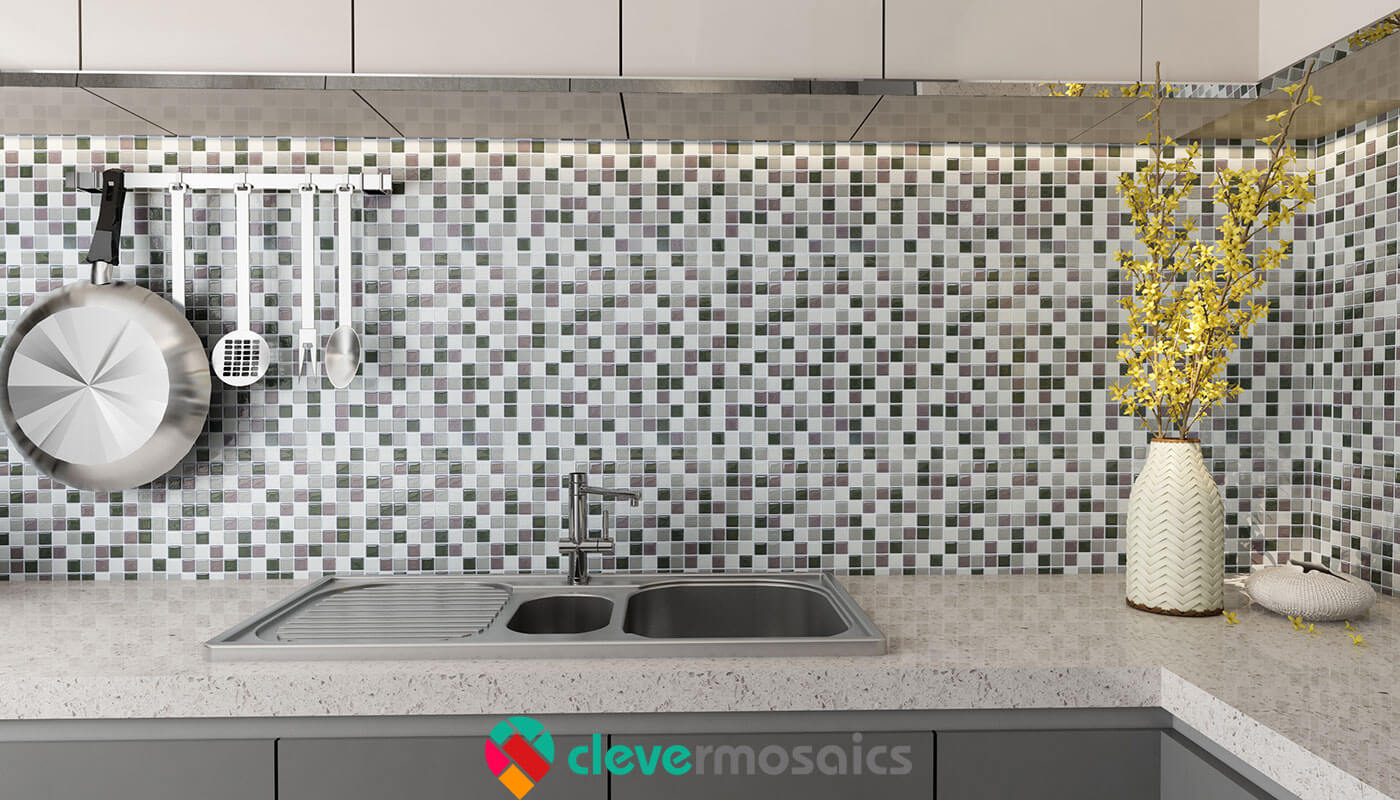 peel and stick mosaic backsplash