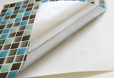 The peel and stick self-adhesive vinyl tile is not just a plastic sheet