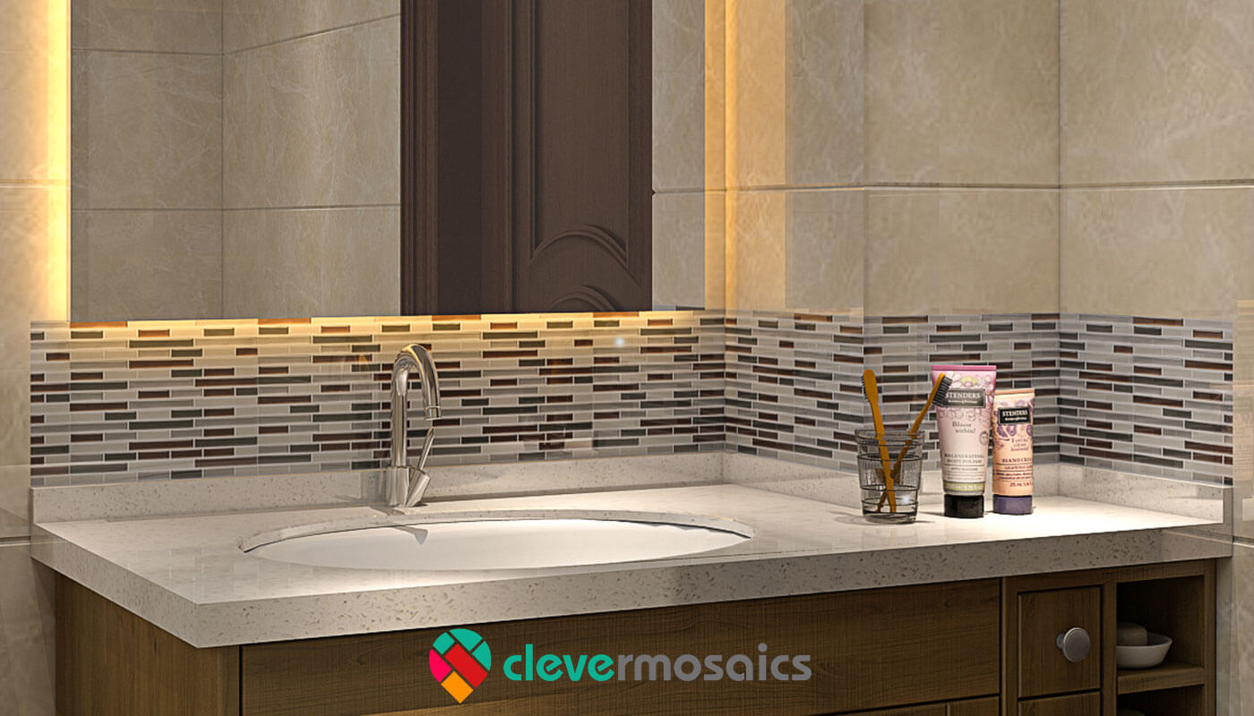 Peachy How To Remove Peel And Stick Tiles Clever Mosaics Beutiful Home Inspiration Ommitmahrainfo