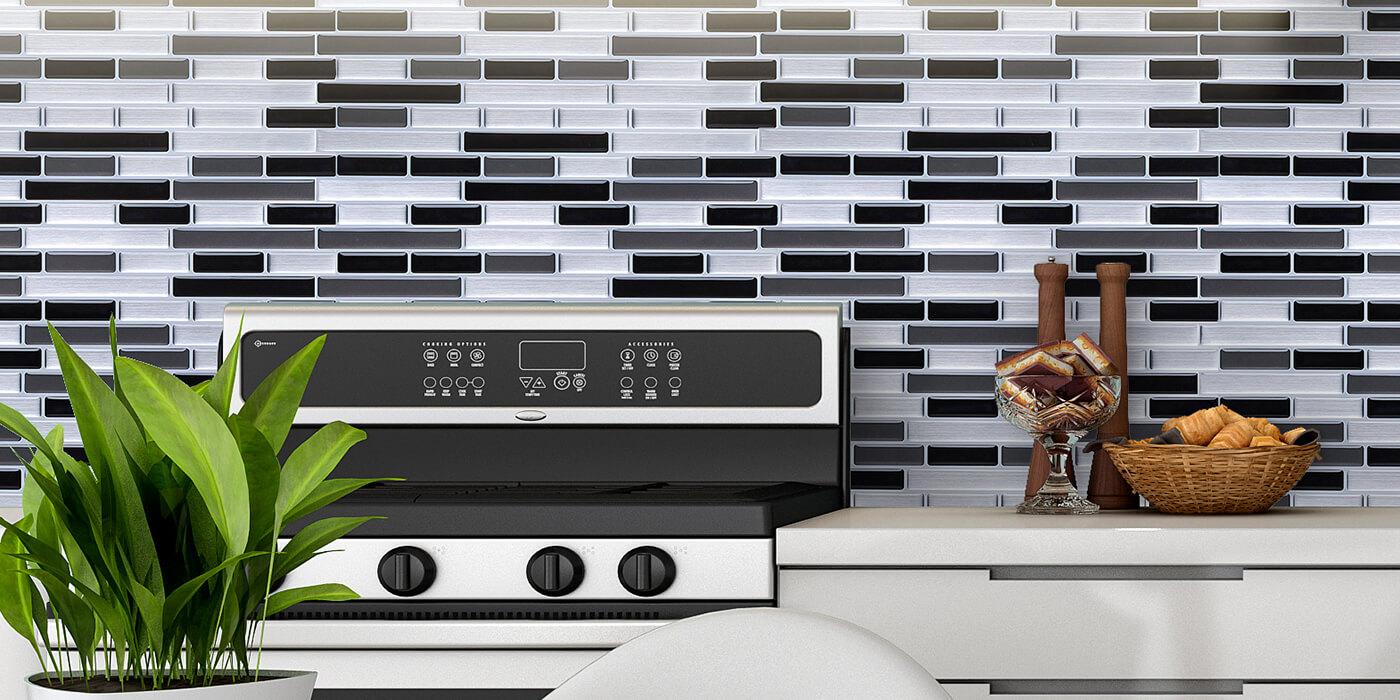 peel stick mosaic decoration for kitchen backsplash