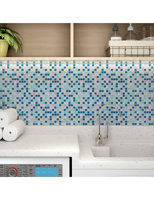 self sticky tile for laundry room