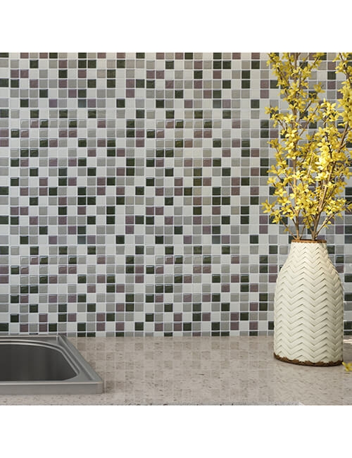 sticking mosaic backsplash