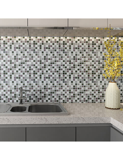 sticky mosaic backsplash