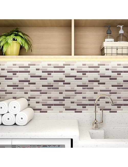 subway tile backsplash for laundry room