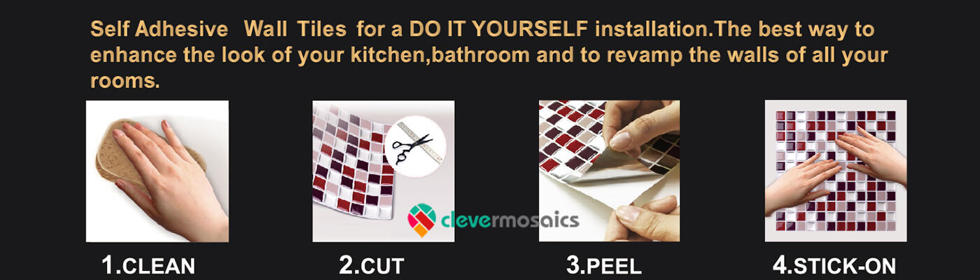 how to install peel and stick mosaic tile