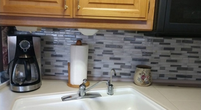 peel stick tile for RV wall mosaic