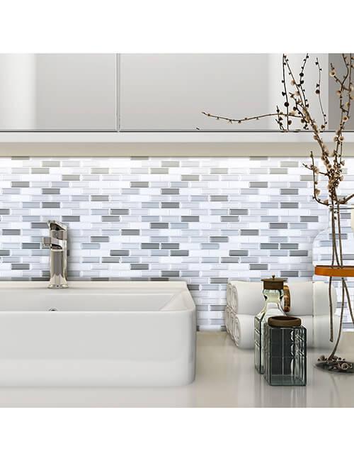 vinyl mosaic tile stick on for bathroom