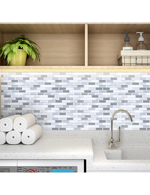 stick on mosaic vinyl wall tile