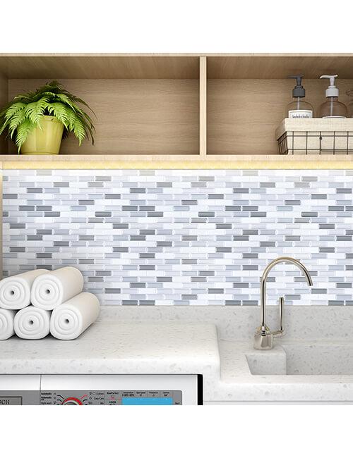 stick on mosaic vinyl wall tile