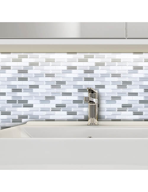 waterproof stick on vinyl mosaic tile