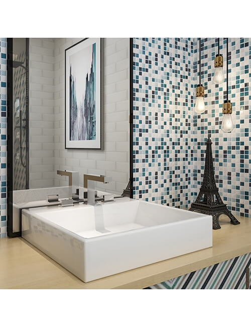 peel and stick shower tile