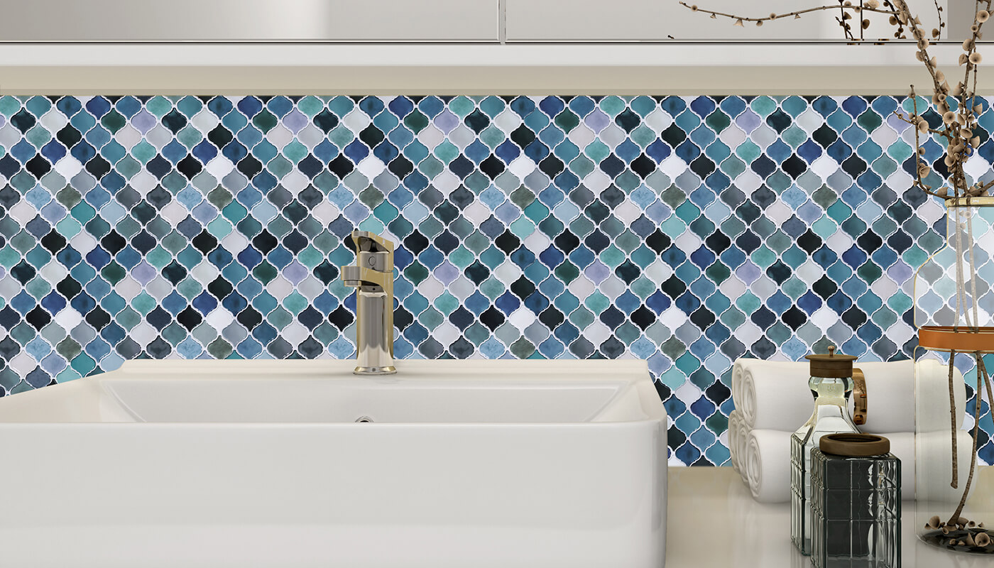 bathroom waterproof peel and stick tiles