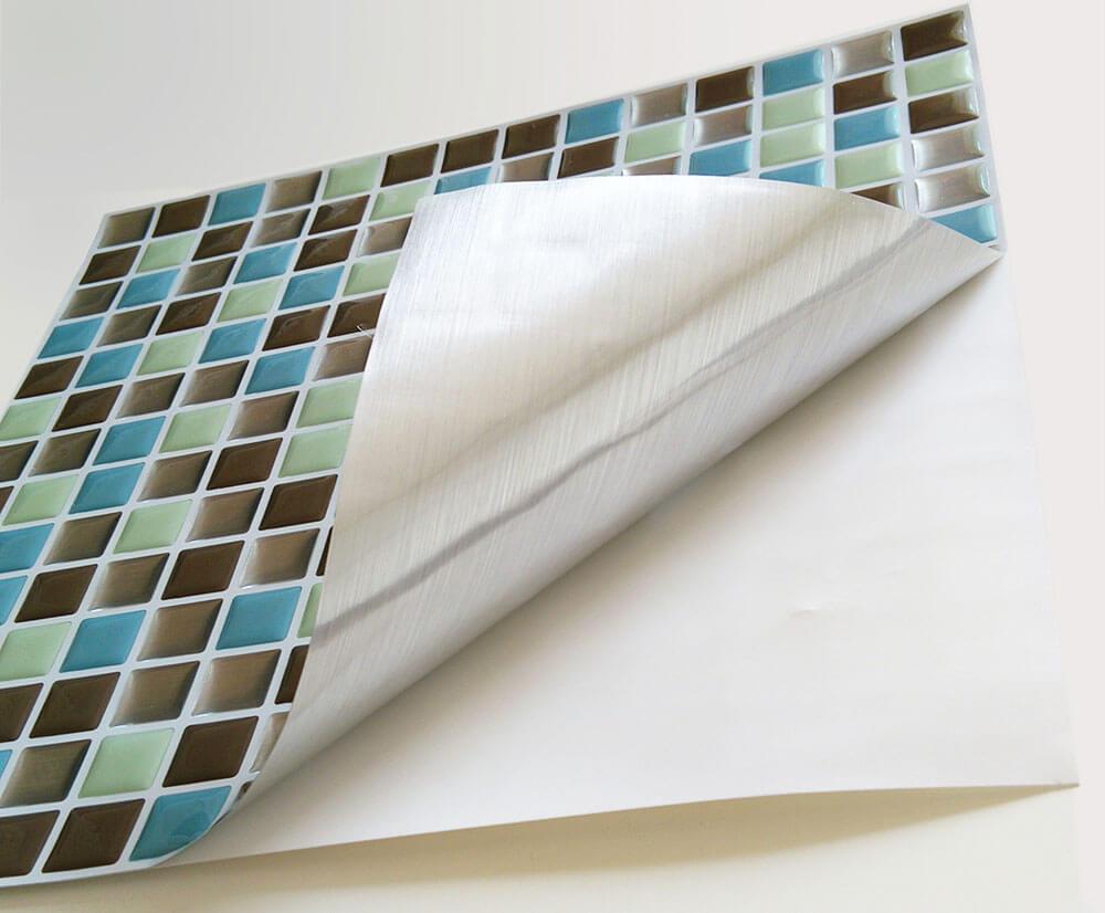 installing tile backsplash with peel and stick tile