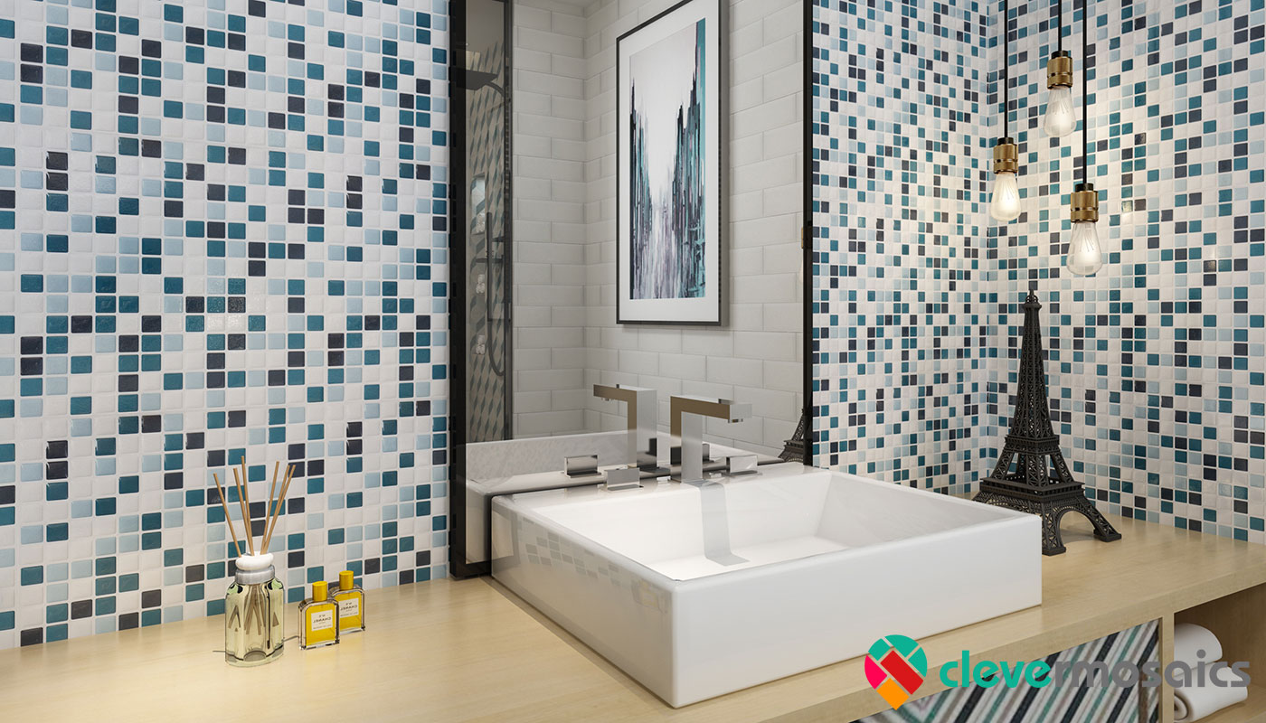 Sensational Peel And Stick Tiles For Shower Walls Clever Mosaics Beutiful Home Inspiration Ommitmahrainfo