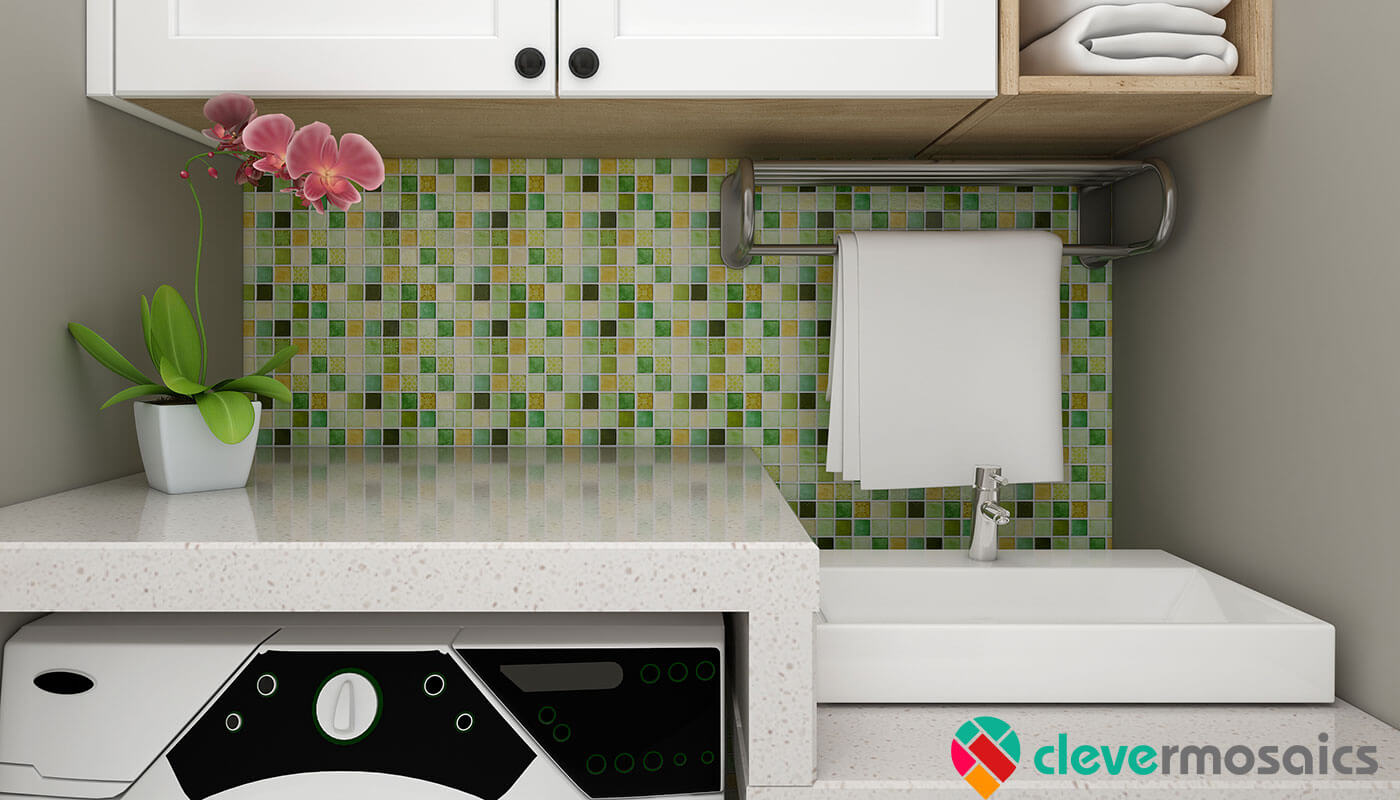 self stick backsplash tile mosaic