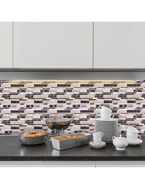 peel and stick instant kitchen backsplash mosaic