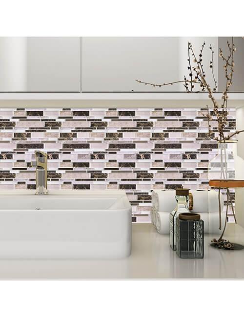peel and stick instant mosaic bathroom