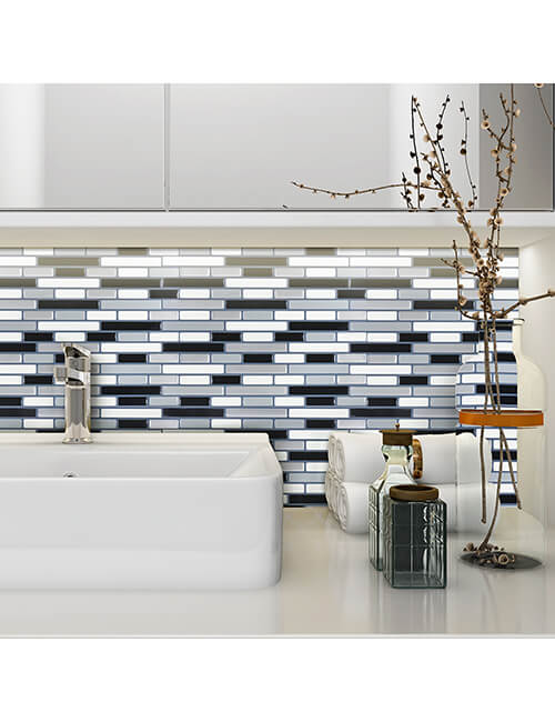 self adhesive vinyl backsplash for bathroom mosaic