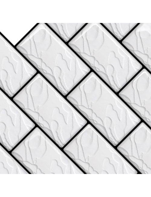 faux subway tile backsplash sheets