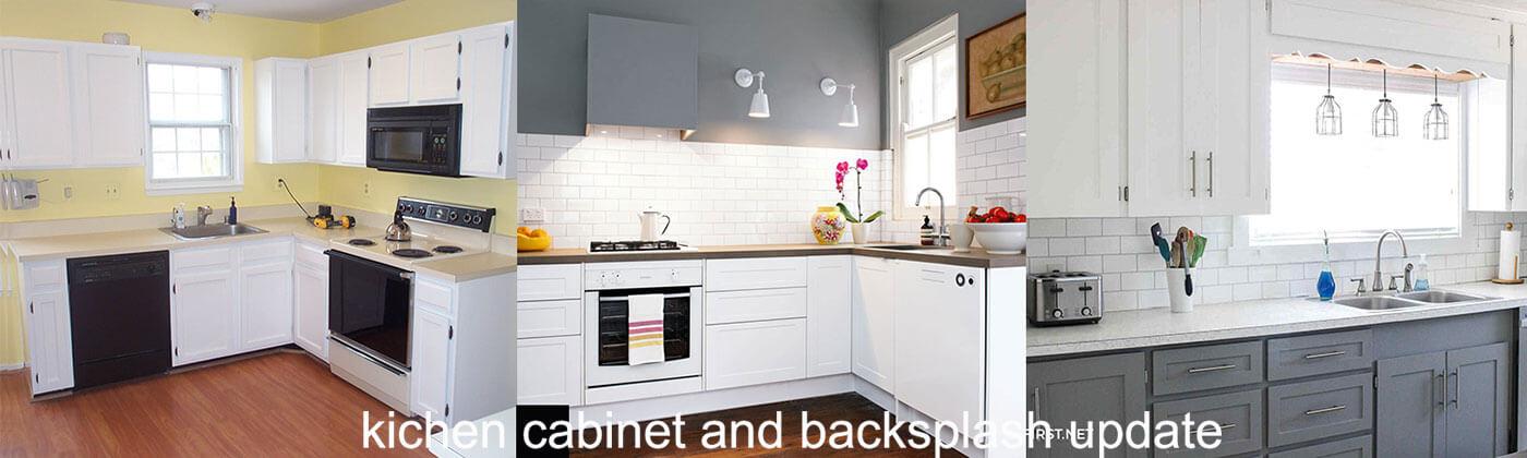 kitchen remodel kitchen cabinet and backsplash update