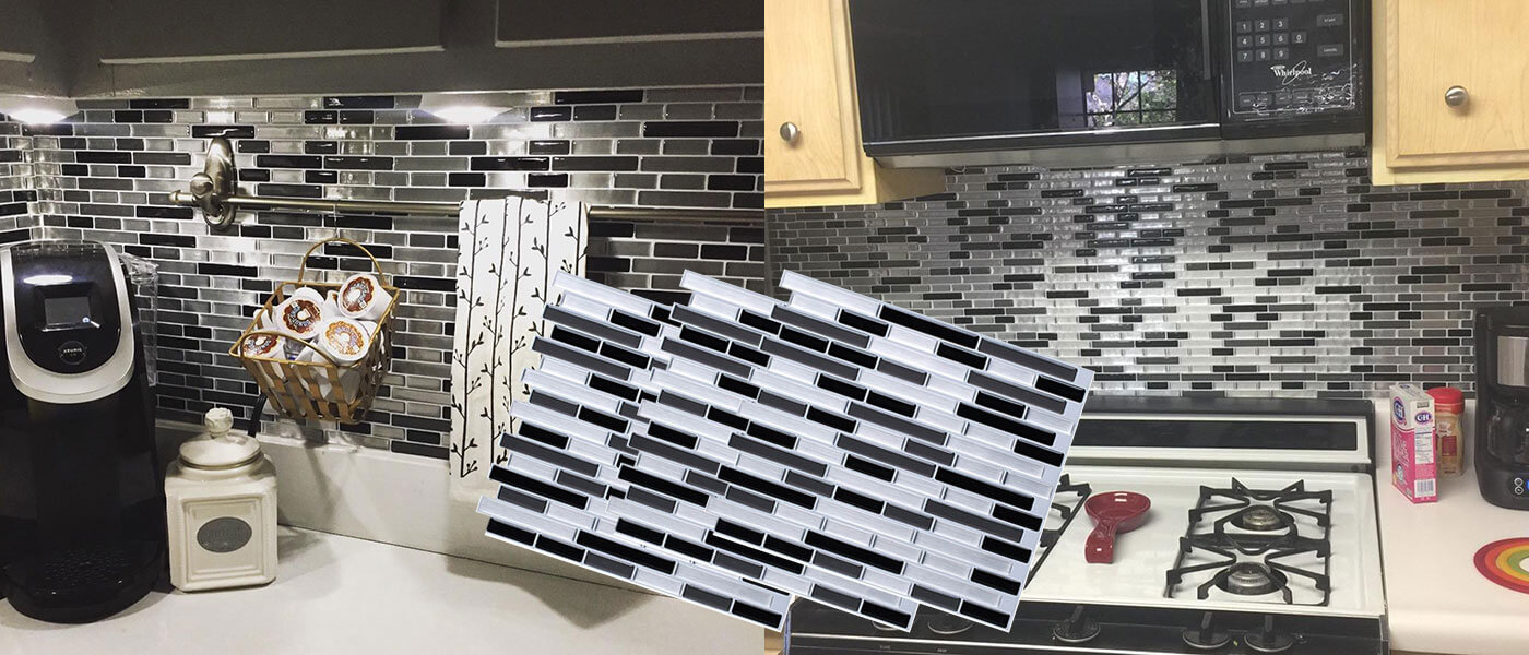 Kitchen Backsplash Behind a Stove | Clever Mosaics on cabinets above stove, lighting above stove, backsplash behind stove, tile mural above stove, subway tile above stove, decorative tile above stove, microwave above stove, accent tile above stove,