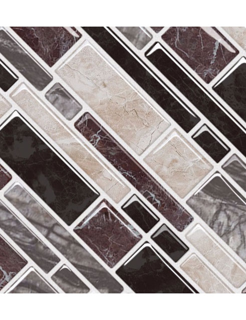 peel and stick instant mosaic tile backsplash