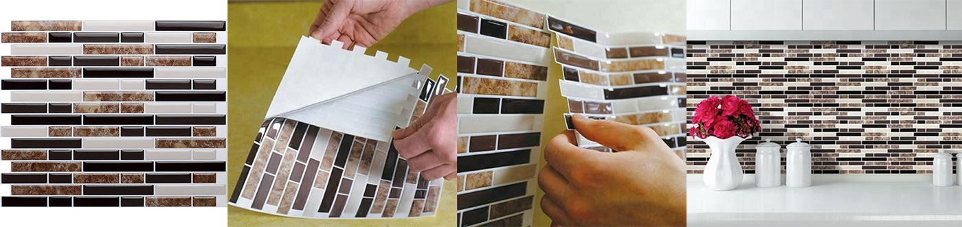 kitchen backsplash peel stick mosaics