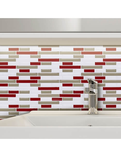bathroom self stick temporary tile backsplash