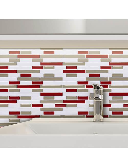 bathroom self stick temporary tile backsplash