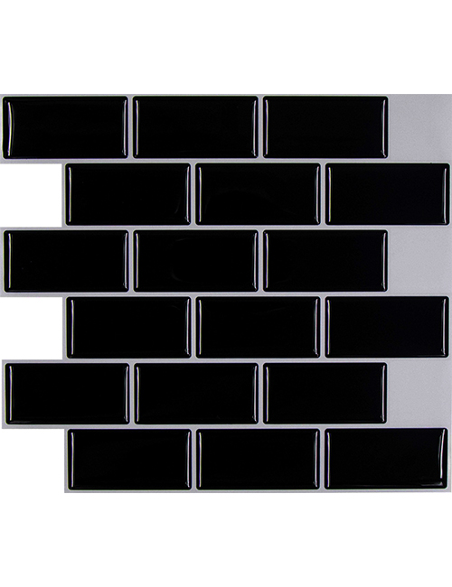 black subway tile