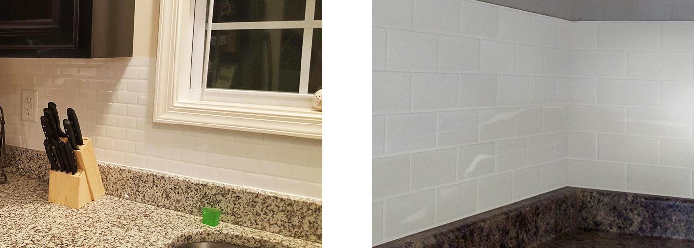 white subway tile backsplash mosaic
