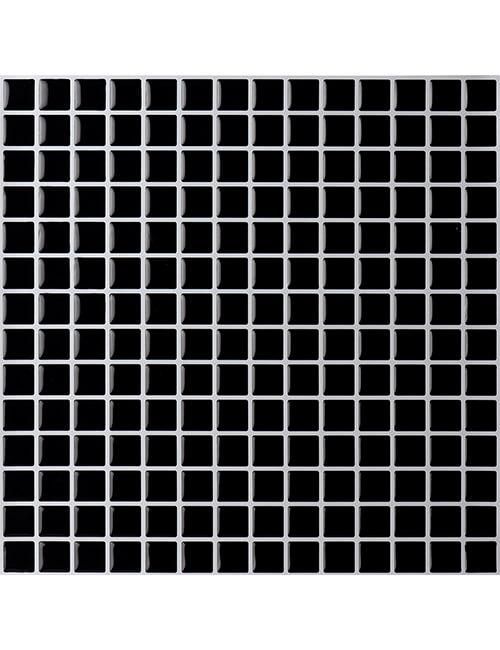 Clever Mosaics black mosaic tile backsplash