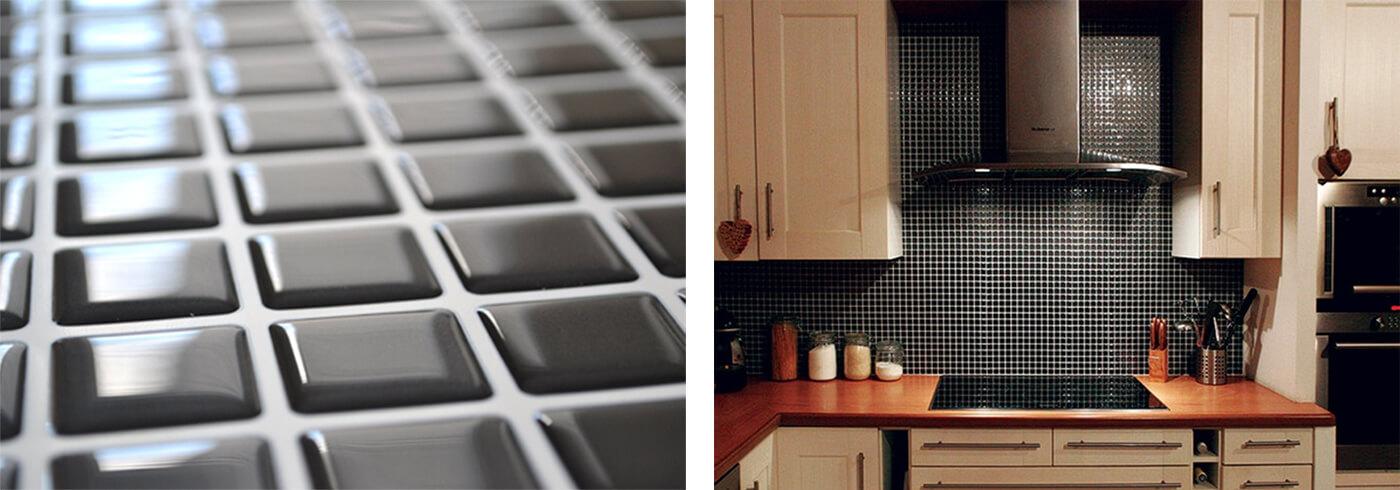 Clever Mosaics black mosaic tile luxury