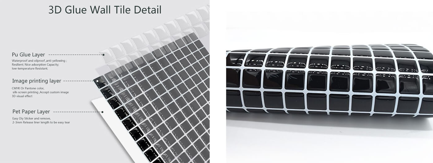 Clever Mosaics black mosaic tile