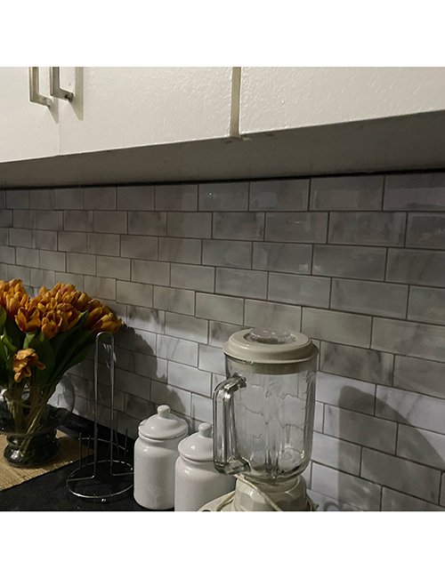 gray marble subway tile