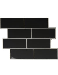Clever Mosaics dark gray subway tile