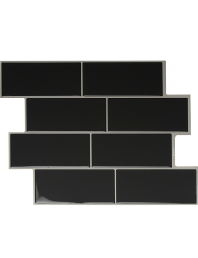 Clever Mosaics dark gray subway tile
