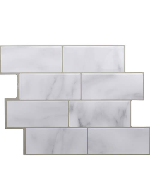 Clever Mosaics grey subway tile