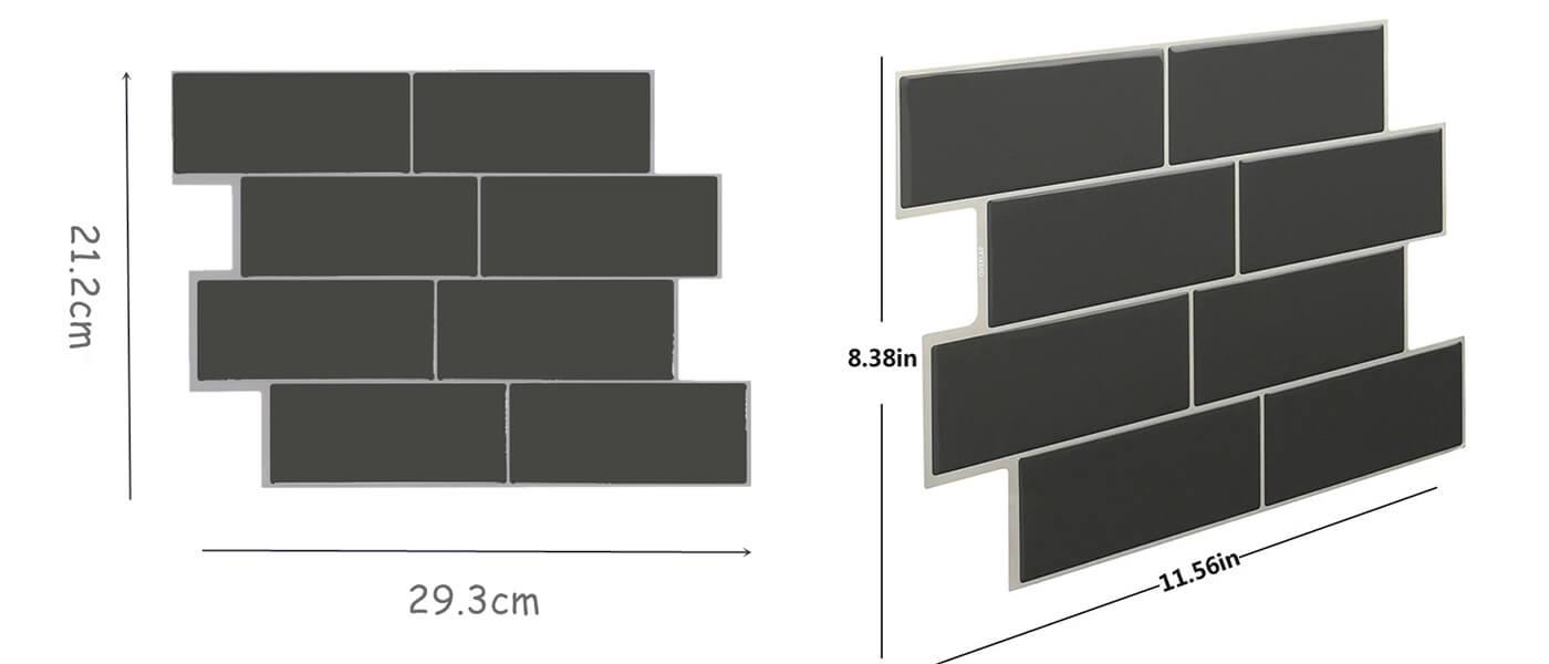 Clever Mosaics dark gray backsplash tile