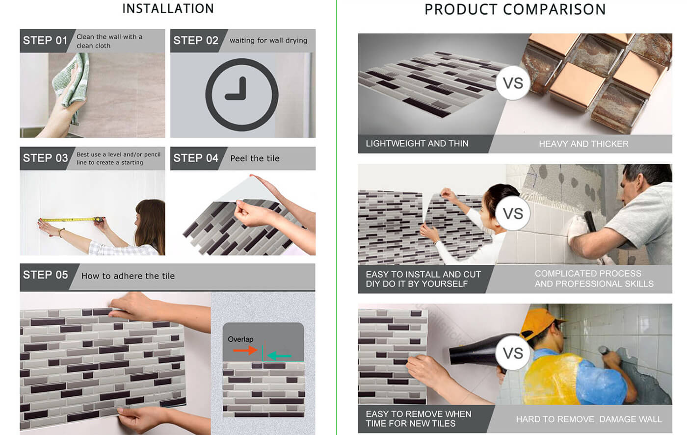 Peel and Stick Tile | Global Free Shipping | Clever Mosaics