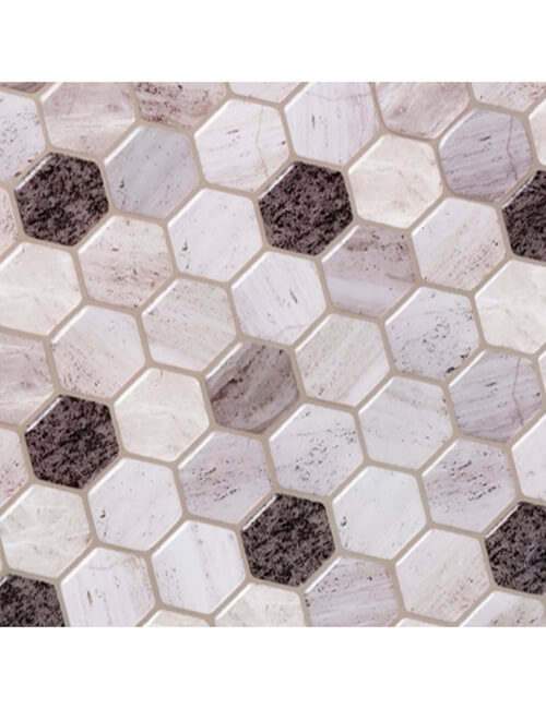 Clever Mosaics hexagon marble tile