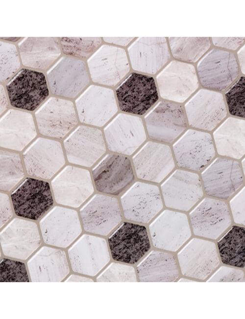 Clever Mosaics hexagon marble tile