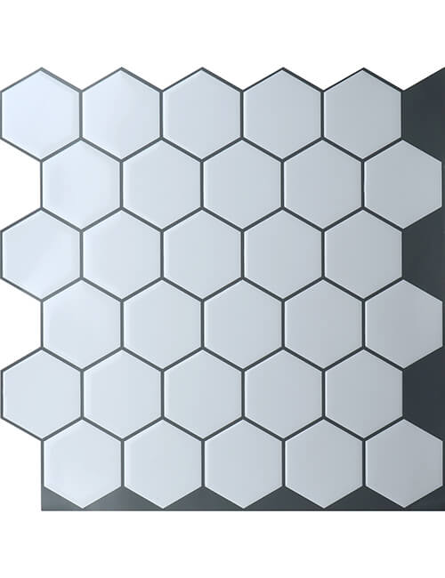 hexagon tile sticker from Clever Mosaics