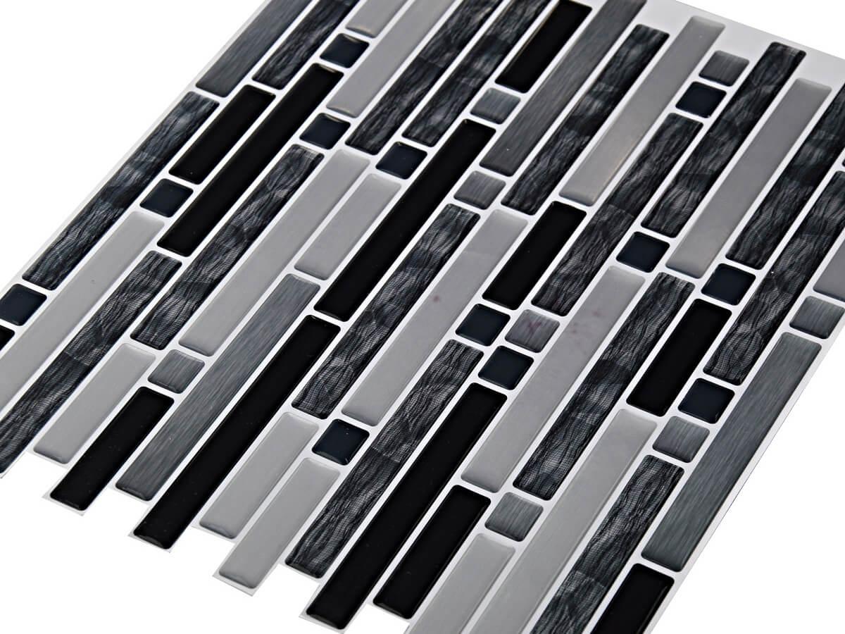 Clever Mosaics peel and stick glass tile backsplash