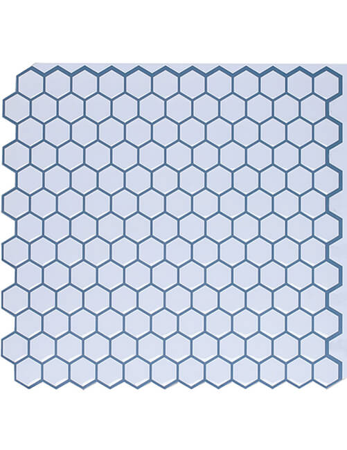 Clever Mosaics peel and stick hexagon tile