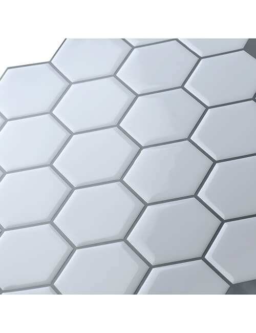 stick on hexagon tile sticker from Clever Mosaics